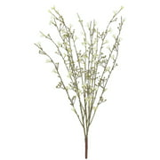 """32"""" Brown and Gold Glittered Blossom Bush Spray"""