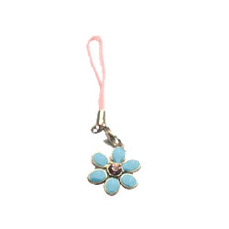Cell phone charm with flower Cell phone charm with flower