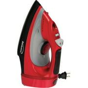 Non-Stick Steam/Dry, Spray Iron with Cord Storage in Red (MPI-58)