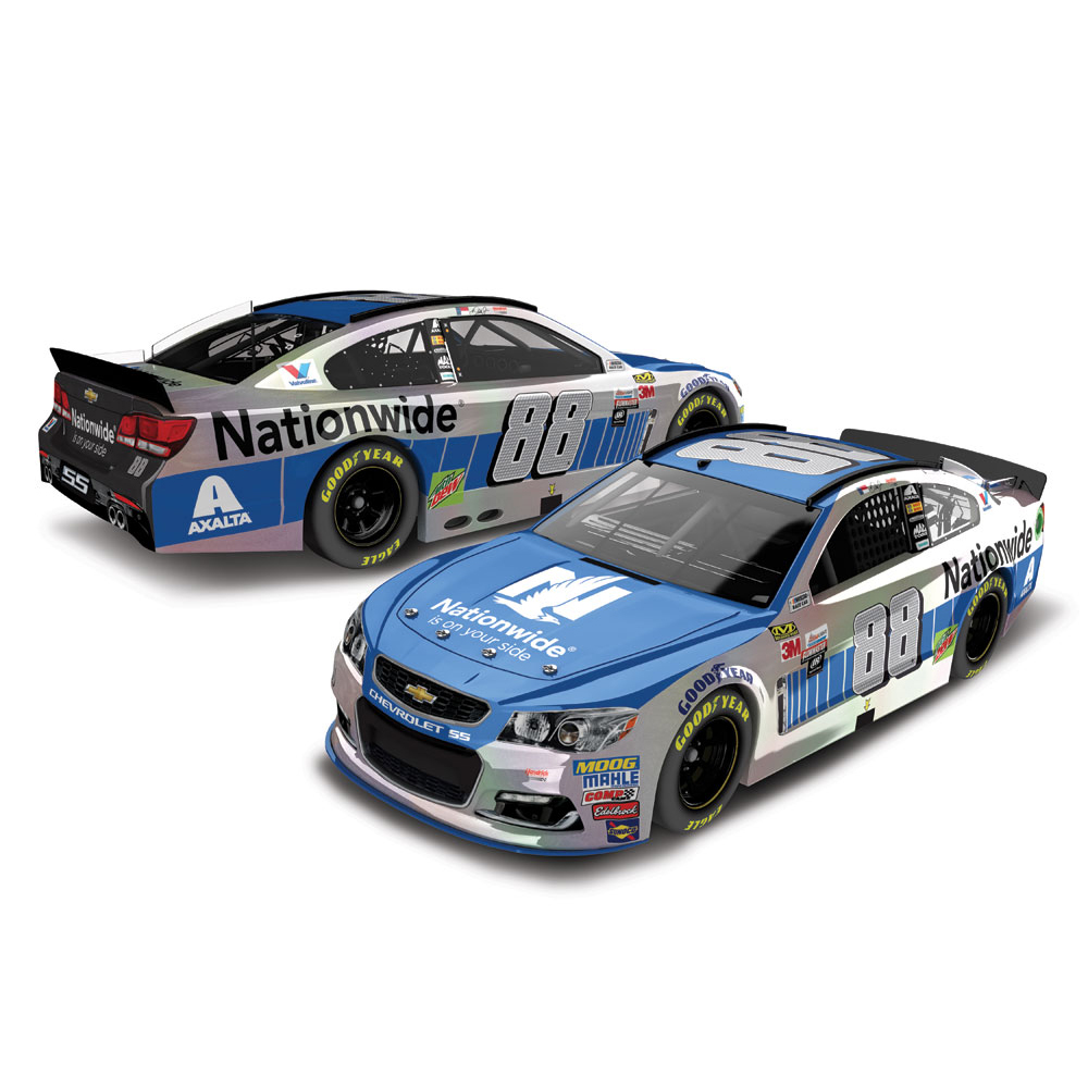 Dale Earnhardt Jr. Action Racing 2017 #88 Nationwide 1:24 Flashcoat Die-Cast Chevrolet SS - No Size