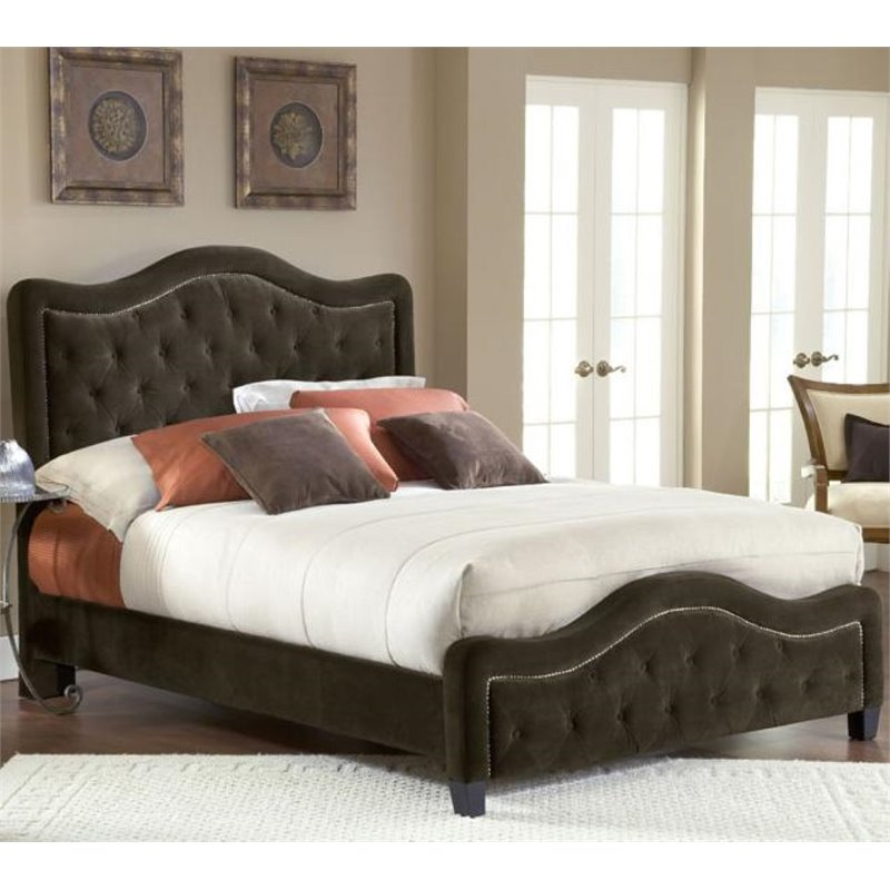 Hillsdale Trieste Panel Headboard with Rails in Chocolate-Queen