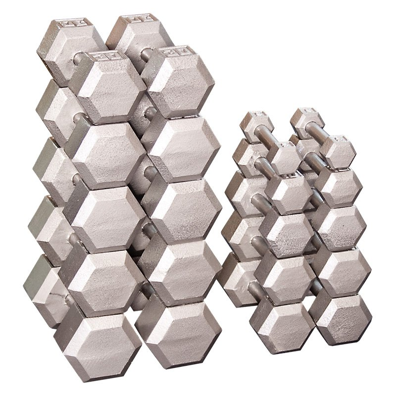 Body Solid Grey Hex Dumbbell Set