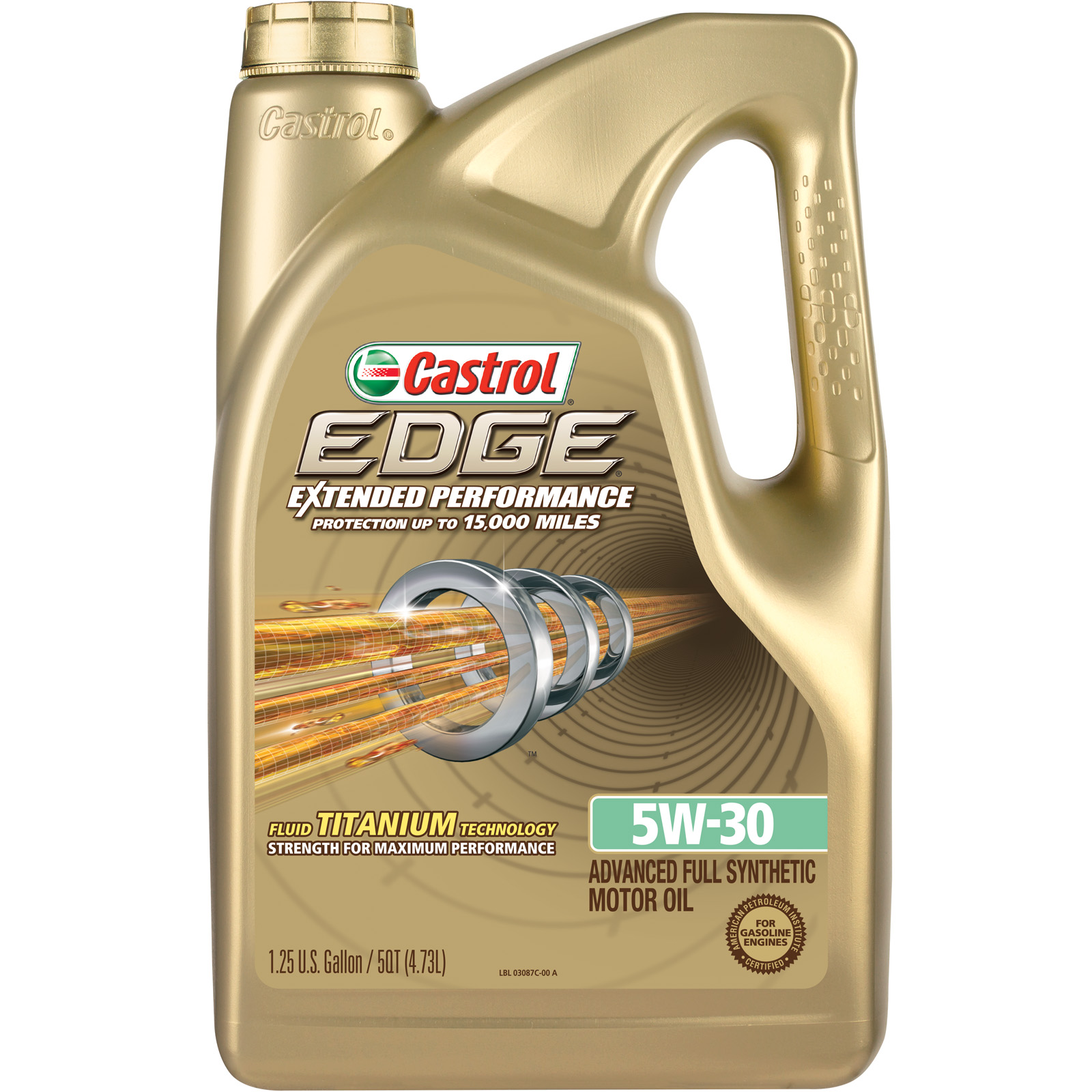 Castrol EDGE Extended Performance 5W-30 Advanced Full Synthetic Motor Oil, 5 QT
