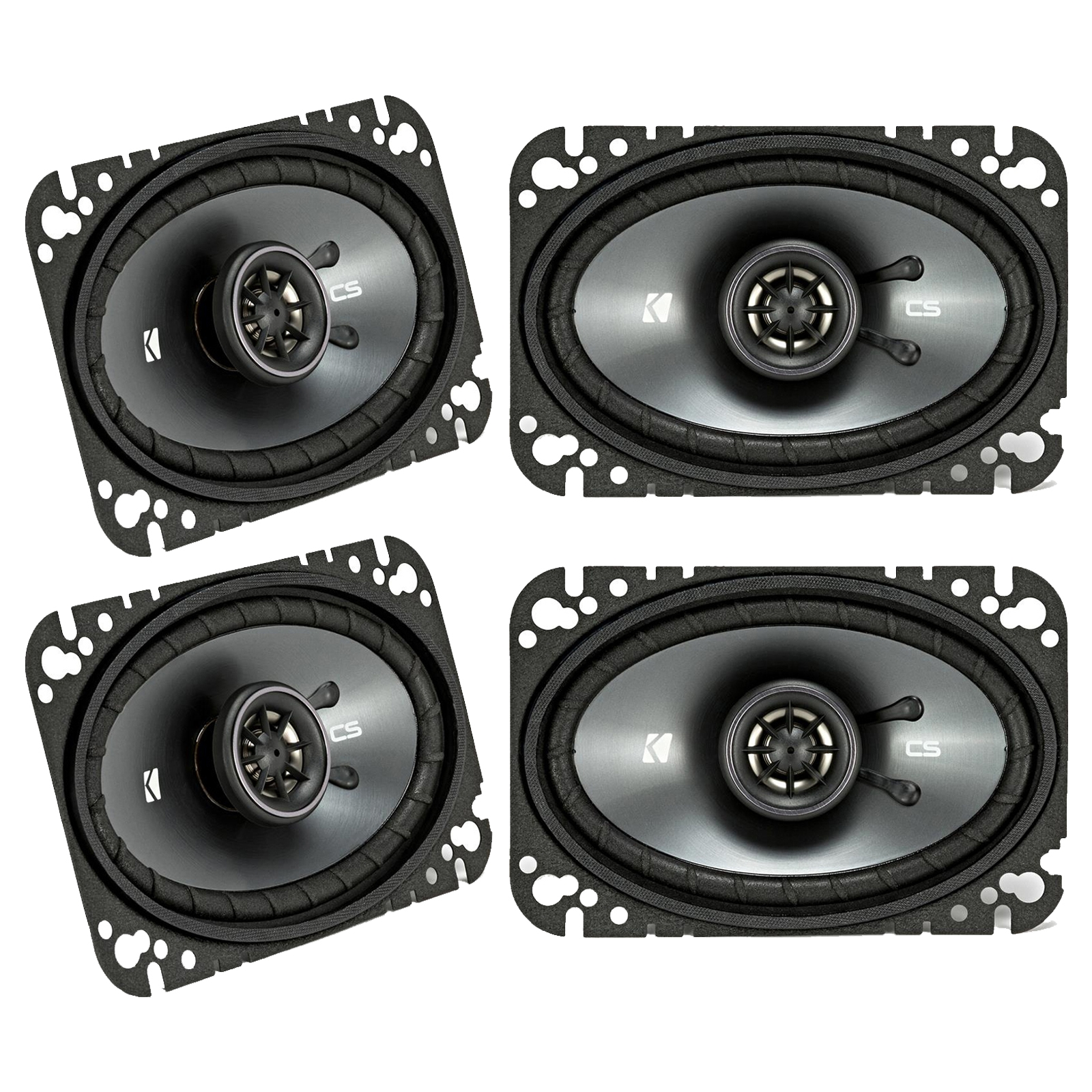 "4 x Kicker 43CSC464 CSC46 4x6"" 4-Ohm Coaxial Speakers (2 Pairs)"