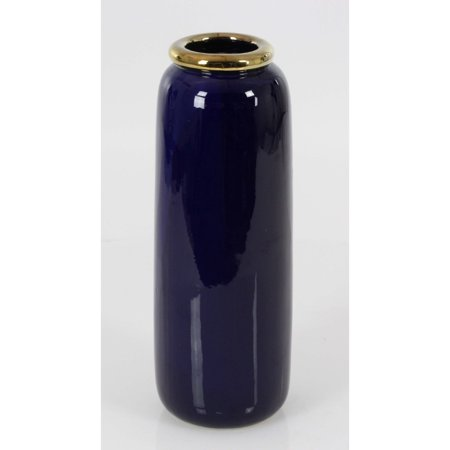 Large Royal Ceramic Metal Vase With Gloss Finish