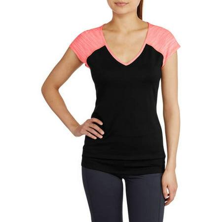 Baseball V-neck T-shirt - Danskin Juniors' V-Neck Dri-More Women's Baseball T-Shirt