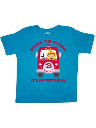 Fire Truck 3rd Birthday Boy Toddler T Shirt