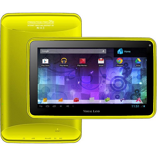 "Visual Land Prestige Pro 7"" Tablet 8GB Memory Dual Core"