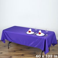 """BalsaCircle 60"""" x 102"""" Rectangle Polyester Tablecloth for Party Wedding Reception Catering Dining Home Table Linens"""