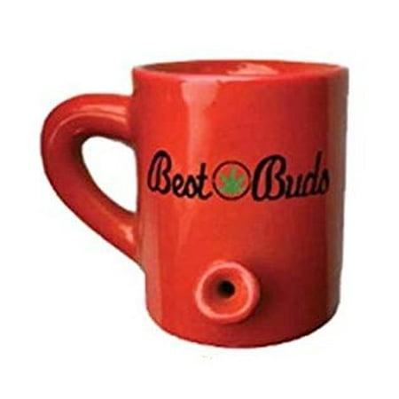 Streamline 4oz Lil' Hot Shot Pipe Mug - Red Best Bud - Halloween Mug Shots