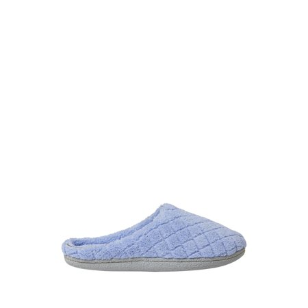 Dearfoams Womens Leslie Quilted Microfiber Terry Clog slippers