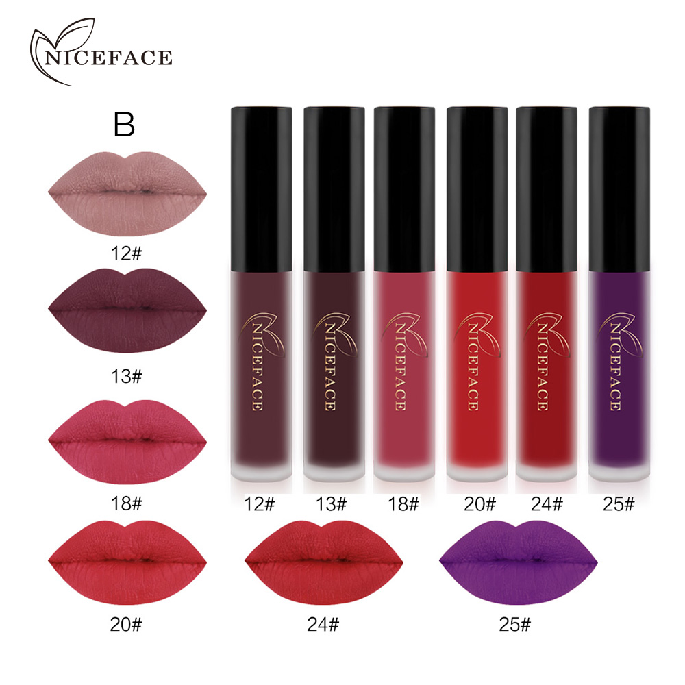Long Lasting 6 Pieces Matte Lip Gloss New Products Are Comming - B