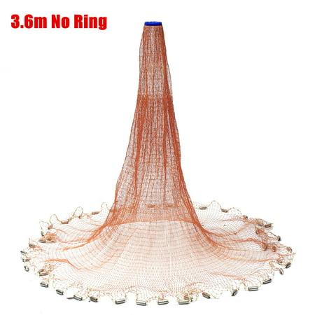 6x12FT Nylon Fishing Gadgets Fish Net Fishing Foldable Baits Trap Cast Dip Net Crab Shrimp Brown (Fishing Nets)
