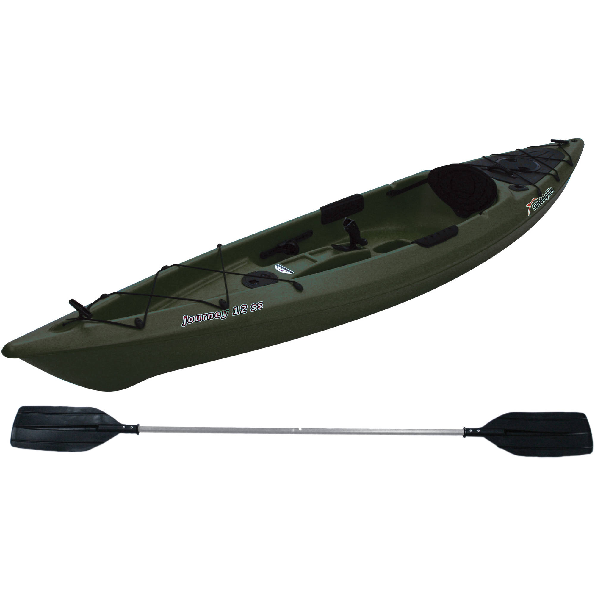 Sun dolphin journey 12 39 sit on fishing kayak paddle for Sit on vs sit in kayak for fishing