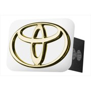 AUTO GOLD TTOYG Gold Hitch Cover With Toyota Logo