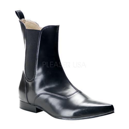 BRO02 B NPU Demonia Vegan Boots Unisex BLACK Size: 12 by
