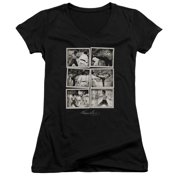 Bruce Lee Snap Shots Juniors V-Neck Shirt