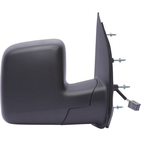 61177F - Fit System Passenger Side Mirror for 2009 Ford Econoline Van, single lens, textured black, foldaway, Power ()