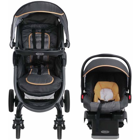 Graco Fastaction Fold 2 0 Click Connect Travel System Stroller  Sunshine