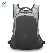 "Deago Laptop Backpack, Travel Computer Bag for Women & Men, Anti Theft With Lock, Business School Backpack with USB Charging Port (19.6""x11.8""x4"", Gray)"