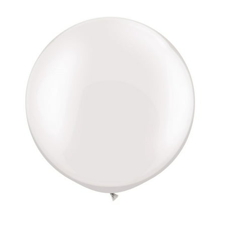 36 Inch Latex Balloon Pearl White (Premium Helium Quality) Pkg/3 - Blow Up Balloons Without Helium
