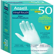 Ansell Vinyl Touch Gloves, S/M, 50ct