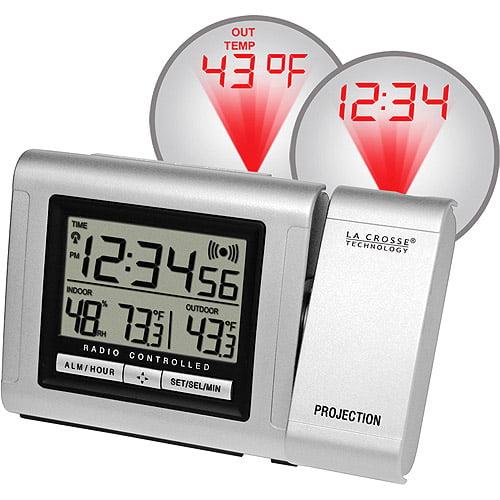 La Crosse Technology Atomic Projection Alarm Clock with Temperature