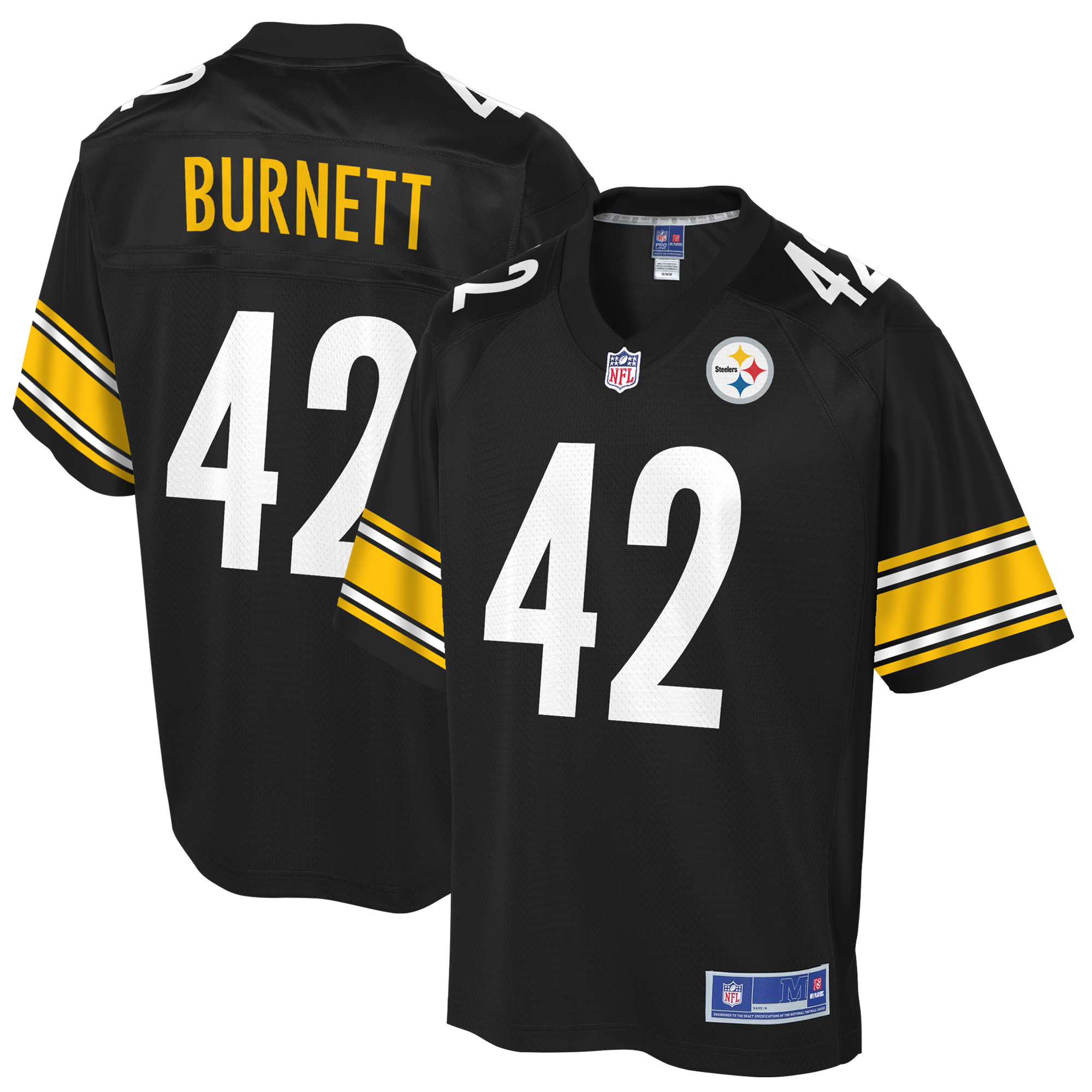 brand new e4361 6bdb1 Morgan Burnett Pittsburgh Steelers NFL Pro Line Youth Player ...