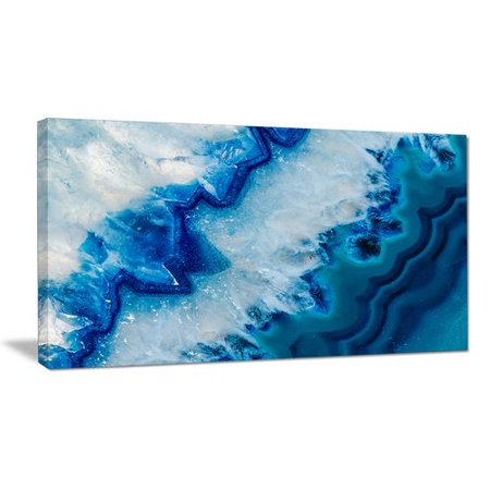 DESIGN ART Geode Slice Macro - Abstract Digital Art Glossy Metal Wall (Geode Slice)