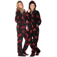 8794aa4e87 Product Image Footed Pajamas - Pucker Up Kids Hoodie Chenille Onesie