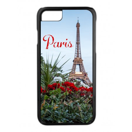 Eiffel Tower Paris Design Black Rubber Phone Case That Is Compatible
