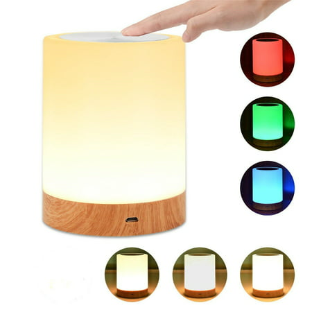 Wedlies Bedside Touch Sensor Lamp USB Dimmable Table Lamp LED Smart Mood Night Light Room Decor Kids Gift ()
