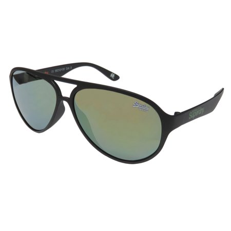 New Superdry Sds Astro Mens/Womens Aviator Full-Rim 100% UVA & UVB Matte Black Spectacular Must Have Aviator Sunnies Shades Frame Mirrored Gray Lenses 58-12-135 (Cheap Superdry Sunglasses)