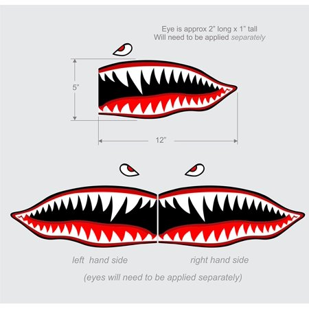 - Flying Tigers shark teeth decal sticker 5