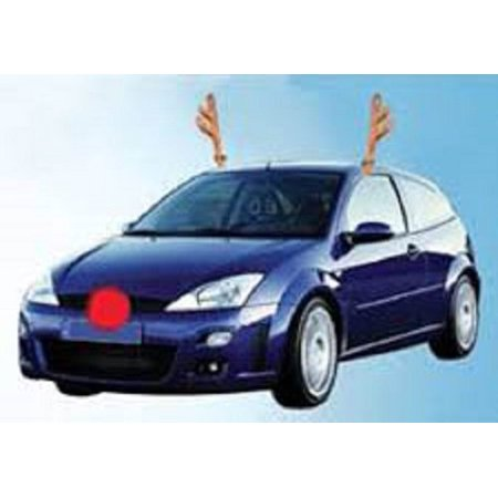Car Reindeer Costume Dress Up Antler Kit With Nose Deluxe Be Jolly Christmas, 794080277963 By Novelty](Reindeer Car Antlers)