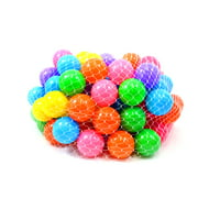 "Board No More! Non-Toxic ""Phthalate Free"" Crush Proof Play Balls 7 Color: Pink, Green, Purple, Red, Blue, Yellow, Orange, 100pc/pk"