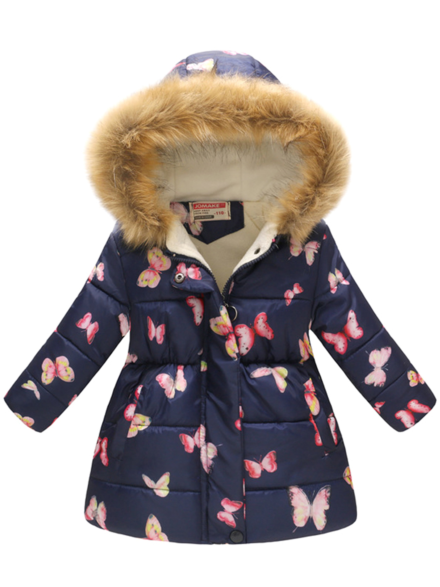 WOOSEN Winter Down Coats for Kids Sparkles Colorful Baby Boys Girls Light Weight Puffer Padded Jacket Bear Hoods Infant Outerwear 01-rose Red 18-24 Months