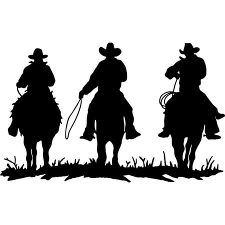 Custom Wall Decal 3 Cowboy Horse Riders 10
