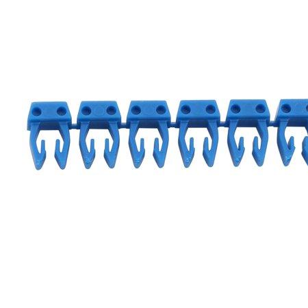 """Unique Bargains 20Pcs Letters """"Q"""" Network Cable Labels Markers Blue for 1.0-3.0mm Dia Wire - image 2 de 3"""