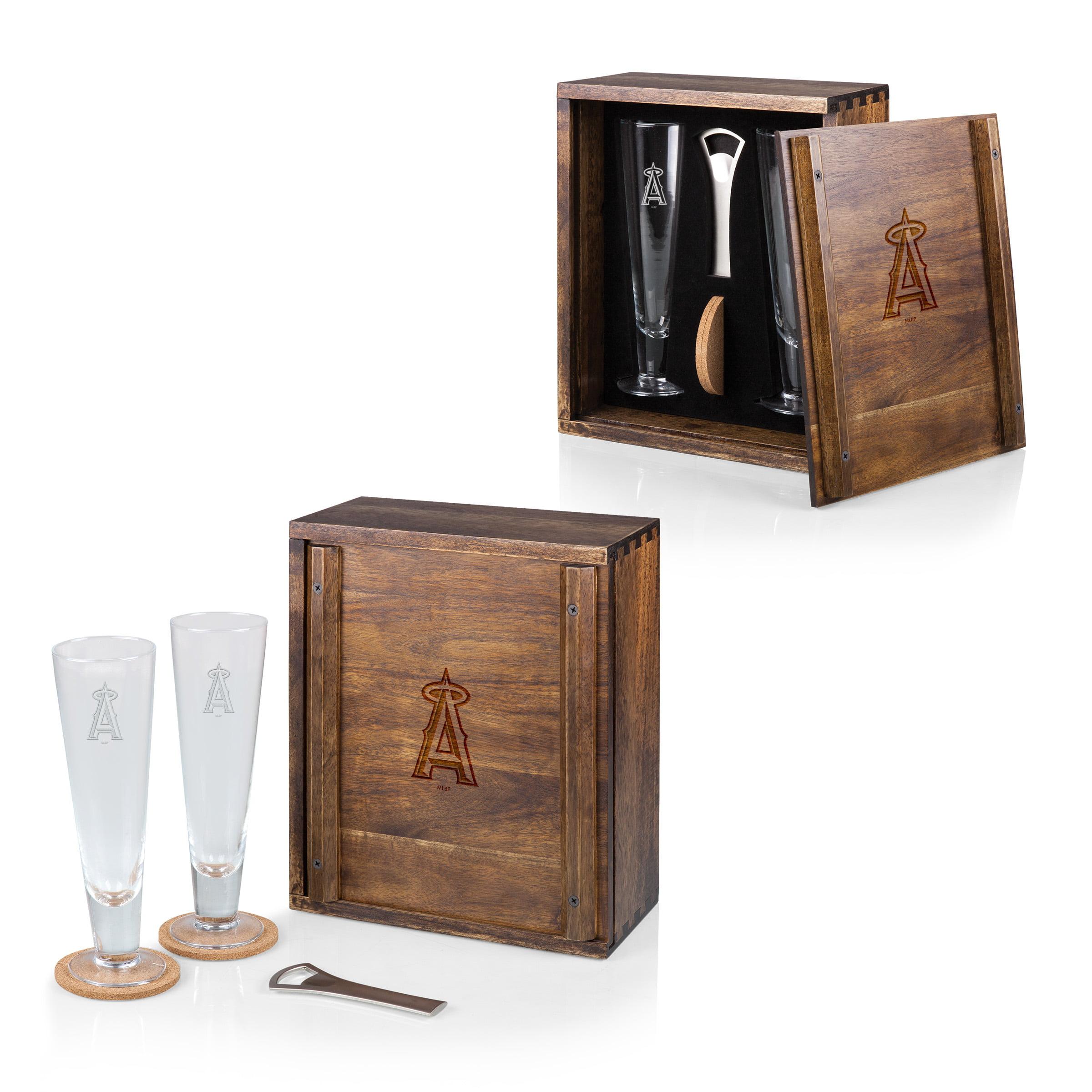 Los Angeles Angels Pilsner Beer Gift Set For 2 - Brown - No Size