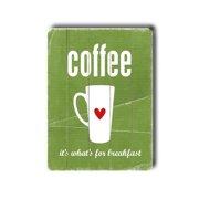 Artehouse LLC Coffee by Cheryl Overton Textual Art Plaque