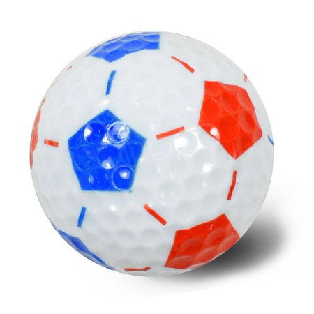 NITRO NOVELTY GOLF BALLS SOCCER WHITE/RED](Novelty Golf Balls)