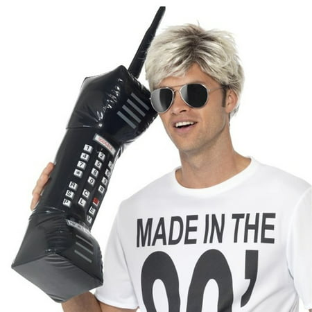 Inflatable Brick Cell Phone Retro Mobile Costume Prop Accessory 80's Zack Morris (Mobile Phone Costume)