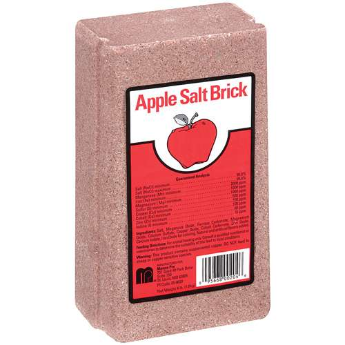 Manna Pro: Shaped Salt Lick Apple Flavored Salt Brick, 4 lb