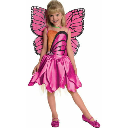 Barbie-Deluxe Mariposa Girls' Child Halloween Costume - 1980s Barbie Halloween Costume