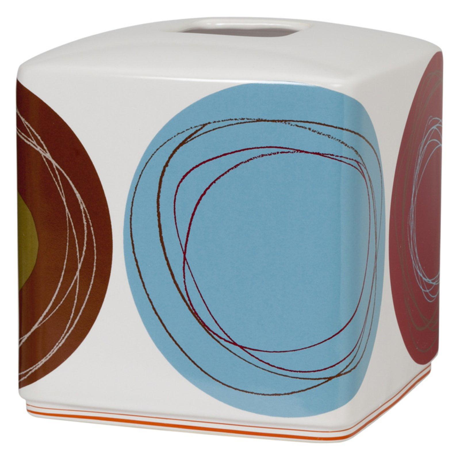 Creative Bath Products Dot Swirl Tissue Box