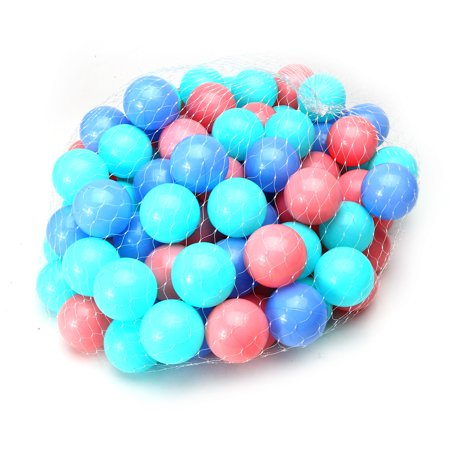 Meigar 100Pcs Clear Ocean Ball Soft Plastic Ocean Ball Swim Pool Game Baby Kid Swim Pit Toy