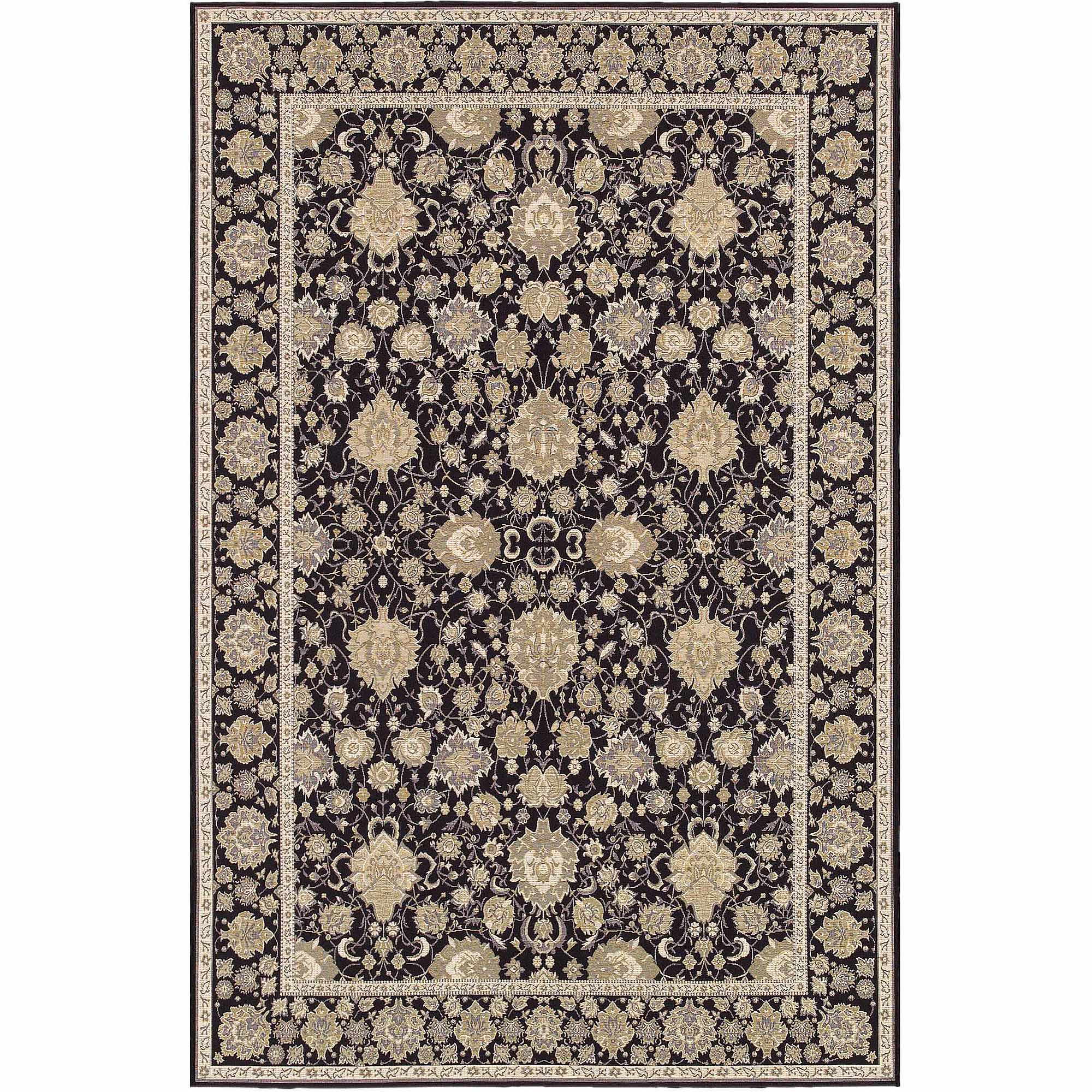 Couristan Dolce Pompano Rug, Black/Beige