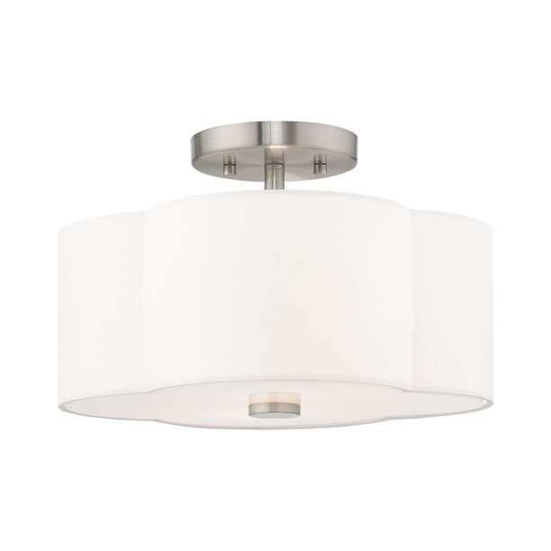 Livex Lighting 52152 Chelsea 2 Light 13 Wide Semi Flush Drum Ceiling Fixture Walmart Com Walmart Com