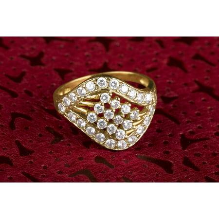 LAMINATED POSTER Wedding Ring Jewelry Diamond Ring Diamond Poster Print 24 x 36